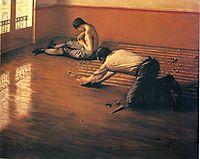 The Parquet Planers, 1876, caillebotte