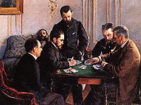 Part of bezique, 1880, caillebotte
