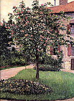 Petit Gennevilliers, Facade, Southeast of the Artist-s Studio, Overlooking the Garden, Spring, caillebotte