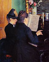 The Piano Lesson, 1881, caillebotte