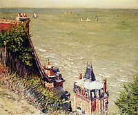 The Pink villa at Trouville, caillebotte