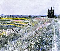 The Plain at Gennevilliers, Group of Poplars, 1883, caillebotte