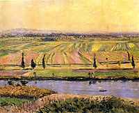 The Plain of Gennevilliers from the Hills of Argenteuil, 1888, caillebotte