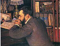 Portrait of Henri Cordier, teacher at the School of Oriental Languages, 1883, caillebotte
