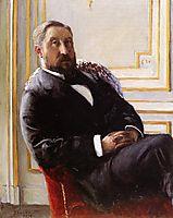 Portrait of Jules Richemont, 1879, caillebotte