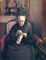 Portrait of Madame Martial Caillebotte, 1877, caillebotte