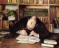 Portrait of a Man Writing in His Study, 1885, caillebotte