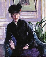 Portrait of a Young Woman in an Interior, c.1877, caillebotte