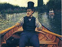 Rower in a Top Hat, 1878, caillebotte