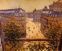 Rue Halevy, Balcony View, 1878, caillebotte