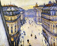 Rue Halevy, Seen from the Sixth Floor, 1878, caillebotte