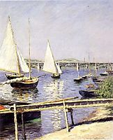 Sailboats at Argenteuil, 1888, caillebotte