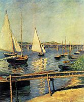 Sailing boats at Argenteuil, c.1888, caillebotte