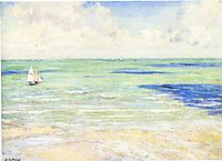 Seascape, Regatta at Villers, c.1884, caillebotte
