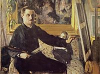 Self-Portrait with Easel, 1879-1880, caillebotte