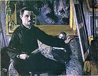Self-Portrait with an Easel, c.1880, caillebotte