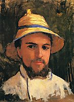 Self-Portrait with Pith Helmet, caillebotte