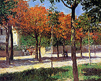 Square in Argenteuil, caillebotte