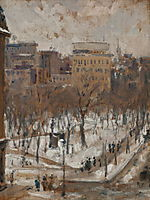 Square in Paris, Snowy Weather, c.1888, caillebotte