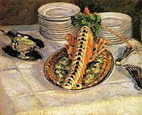 Still Life with Crayfish, 1882, caillebotte