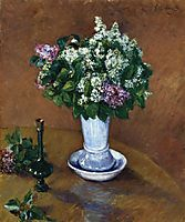 Still Life with a Vase of Lilacs, 1883, caillebotte
