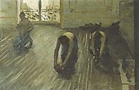 Study for -The Parquet Planers-, 1875, caillebotte