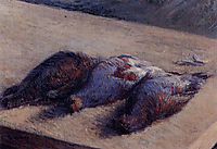 Three Partridges on a Table, c.1880, caillebotte