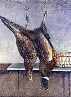 Two Hanging Pheasants, 1882, caillebotte