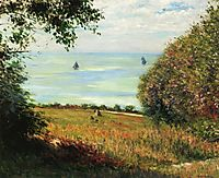View of the Sea from Villerville, 1882, caillebotte