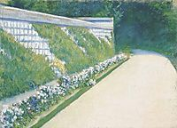 The Wall of the Garden, 1877, caillebotte