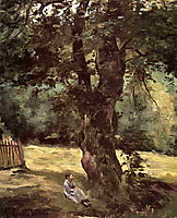 Woman Seated Beneath a Tree, c.1874, caillebotte