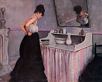Woman at her toilet, 1873, caillebotte