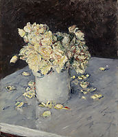 Yellow Roses in a Vase, 1882, caillebotte
