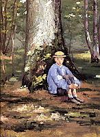 Yerres, Camille Daurelle under an Oak Tree, c.1878, caillebotte