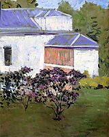 Yerres, Part of the South Façade of the Casin, c.1878, caillebotte