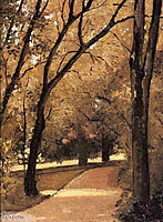 Yerres, Path Through the Old Growth Woods in the Park, c.1878, caillebotte