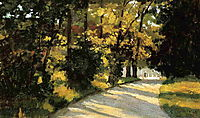 Yerres, Path Through the Woods in the Park, c.1878, caillebotte