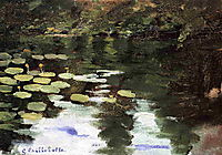 Yerres, on the Pond, Water Lilies, c.1878, caillebotte
