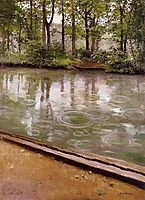 The Yerres, rain, 1875, caillebotte