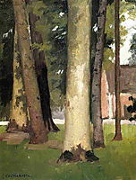 Yerres, Through the Grove, the Ornamental Farm, c.1878, caillebotte