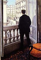 Young man at the window, 1876, caillebotte