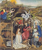 Adoration of Shepherds, 1420, campin