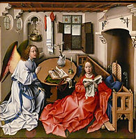The Mérode Altarpiece - The Annunciation, 1428, campin
