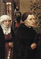 The Mérode Altarpiece - The Donors, 1428, campin