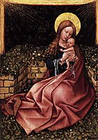 Madonna by a Grassy Bank Oak, c.1425, campin