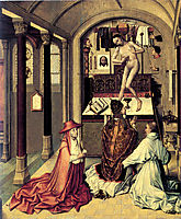 Mass of Saint Gregory, c.1415, campin