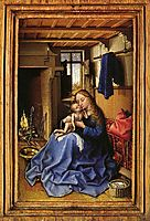 Virgin and Child in an Interior, c.1435, campin