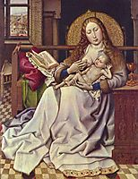 Virgin and Child Before a Firescreen, c.1440, campin