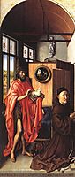 Werl Altarpiece - St. John the Baptist and the Donor, Heinrich Von Wer, 1438, campin