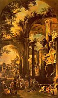An Allegorical Painting of the Tomb of Lord Somers, canaletto